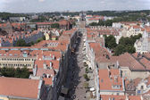 Above the roofs of Gdansk — Stock Photo