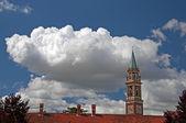 Manzarası ve çatı. — Stok fotoğraf