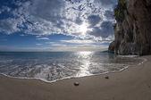 Beach with magic light — Stock Photo