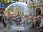 Man In A Bubble — Stock Photo