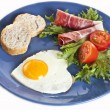 Breakfast plate — Stock Photo