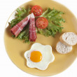 Stock Photo: Breakfast plate