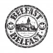 Belfast grunge rubber stamp — Stock Vector