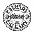 Stock Vector: Calgary grunge rubber stamp
