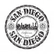 San Diego rubber stamp — Stock Vector