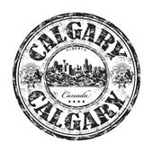 Calgary grunge rubber stamp — Stock Vector