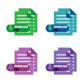 Download PDF — Stock Vector