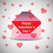 Valentine's Day envelope with love letter — Vecteur