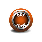 Act now button — Stock Vector