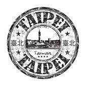 Taipei grunge rubber stamp — Stock Vector