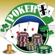 Stock Vector: Poker