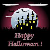хэллоуин замок — Cтоковый вектор