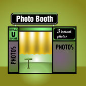 Photo booth — Stock Vector
