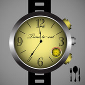 Time to eat — Vector de stock