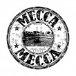 Mecca grunge rubber stamp - Stock Vector