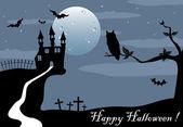 Halloween espeluznante — Vector de stock