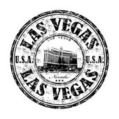 Las Vegas grunge rubber stamp — Stock Vector