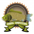 Stock Vector: Fishing competition
