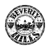 Beverly Hills grunge rubber stamp — Stockvector