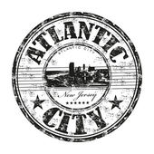Atlantic City rubber stamp — Stock vektor