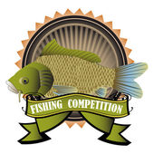 Fishing competition — Stock Vector
