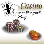 Casino theme — Stock Vector