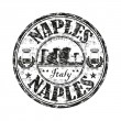 Naples grunge rubber stamp - Stock Vector