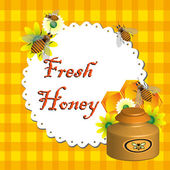 Fresh honey — Vettoriale Stock