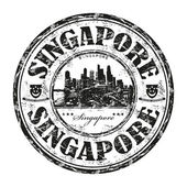 Singapore grunge rubber stamp — Stock Vector