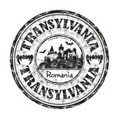 Transylvania grunge rubber stamp — Stock Vector