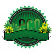Green eco badge — Stock Vector
