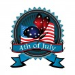 Stock Vector: Fourth of July