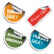 Summer sale stickers — Stock Vector