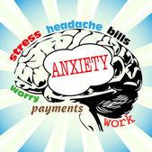 Anxiety — Stock Vector