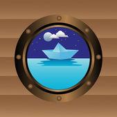 Boat window — Stock Vector