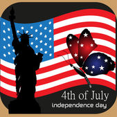 Fourth of July background — Stock Vector