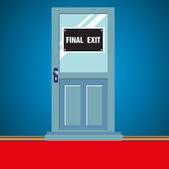 Final exit door — Stock Vector