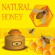 Natural honey - Stock Vector