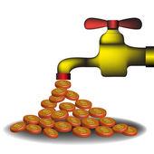 Money tap — Stock Vector