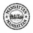 Manhattan grunge rubber stamp - Stock Vector