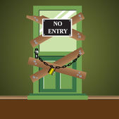 No entry door — Stock Vector