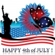 Fourth of July — Vector de stock #23797255