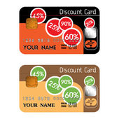 Discount credit cards — Stock Vector