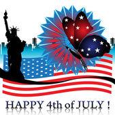 Vierde van juli — Stockvector