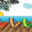 Stock Vector: Summer vacation