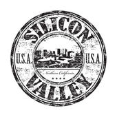Silicon Valley grunge rubber stamp — Stock Vector