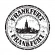 Frankfurt grunge rubber stamp - Stock Vector