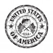 United States of America rubber stamp — Stock Vector