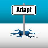 Adapt plate — Stock Vector