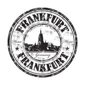 Frankfurt grunge rubber stamp — Stock Vector